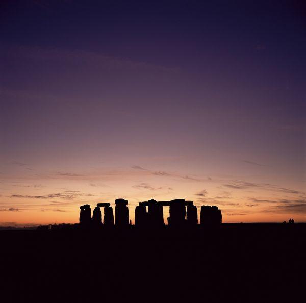 Stonehenge at sunset, UNESCO World Heritage Site, Wiltshire, England, United Kingdom