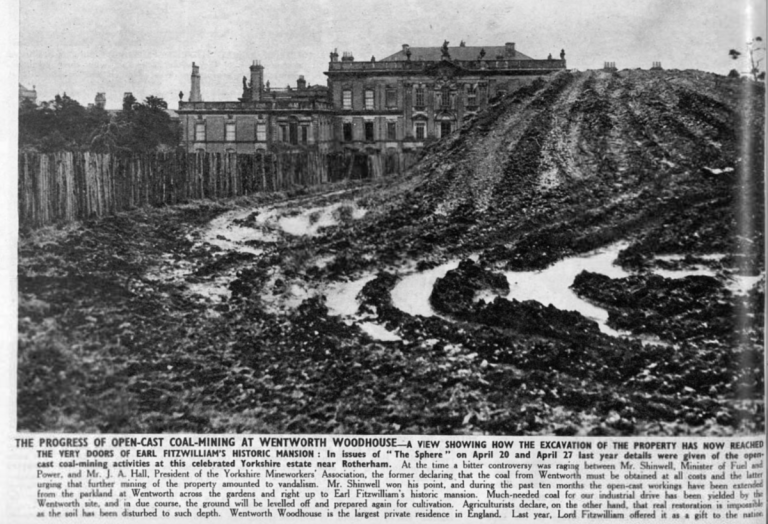 Opencast_coal_mining_in_1947_at_Wentworth_Woodhouse